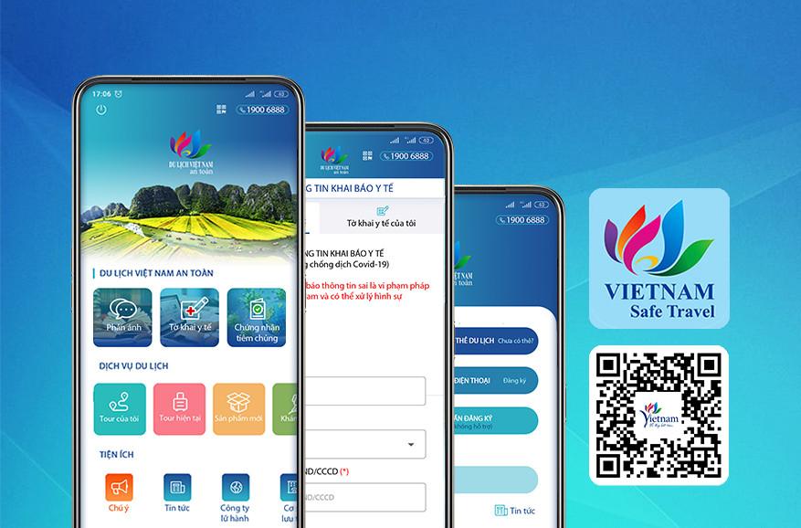 Ứng dụng Du lịch Việt Nam an toàn đã tích hợp tính năng Tờ khai y tế theo quy định của Bộ Y tế